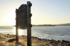 Tecken på den Columbia River klyftan royaltyfri foto