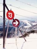 Tecken på ett berg Royaltyfri Foto