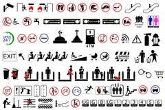 Tecken på offentligt område vektor illustrationer