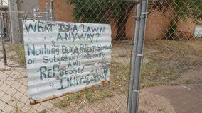Tecken på staketet Royaltyfri Fotografi