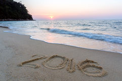 Tecken på stranden Royaltyfria Foton