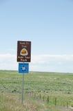 Tecken på USA Hwy 50 i Colorado Fotografering för Bildbyråer
