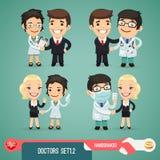 Tecken Set1.2 för doktorer tecknad film Royaltyfria Foton