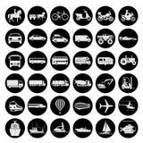 Tecken som framlägger olikt transportmedel royaltyfri illustrationer