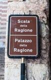 Tecken som indikerar slotten av anledning Arkivfoton