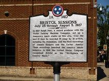 Tecken som markerar födelseorten av countrymusik Arkivbilder