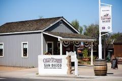 Tecken som påstår den gamla staddelstatsparken i San Diego, Kalifornien Fotografering för Bildbyråer