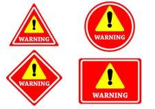 tecken som varnar isolerad röd färg Royaltyfri Foto