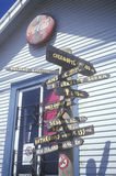 Tecken till överallt i Mendocino County, CA Fotografering för Bildbyråer