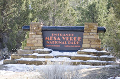 Tecken till Mesa Verde National Park royaltyfria bilder