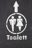 Tecken Toalett Arkivbilder