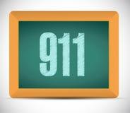 teckenbegrepp för 911 bräde Royaltyfria Bilder