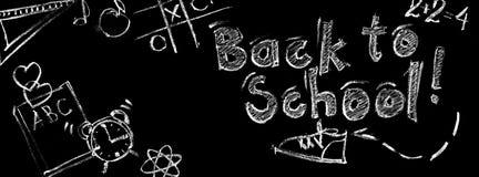 Teckenbegreppet tillbaka till skolan skissar isolerad svart Royaltyfri Fotografi