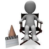Teckenet för filmdirektören visar den Hollywood direktörer eller filmskaparen royaltyfri illustrationer