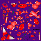 Teckenet - ställ in till dagen för valentin` s Arkivfoton