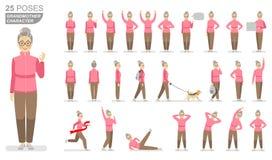Teckenfarmodern i en rosa bruna flåsanden för sportar tröja och i olikt poserar på en vit bakgrund vektor illustrationer
