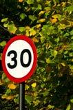 teckenhastighet för 30 gräns Royaltyfria Foton