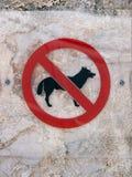 Teckenhundkapplöpning inte tillåtna 17 Royaltyfri Foto