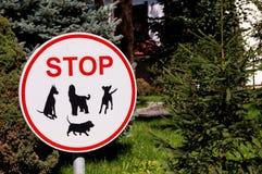 Teckenhundkapplöpningen är inte tillåten Arkivbild