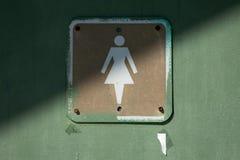 teckenkvinnor för badrum s Royaltyfri Foto