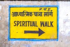 Teckennegro spiritual går på väggen arkivfoto