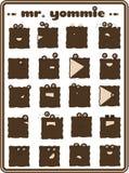 teckensamlingsvektor royaltyfri illustrationer