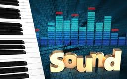teckenspektrum 'för ljud 3d' Royaltyfria Foton