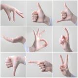 Teckenspråk royaltyfria foton