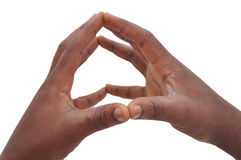 Teckenspråk Royaltyfri Bild
