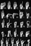 Teckenspråk: Amerikanskt alfabet arkivbilder