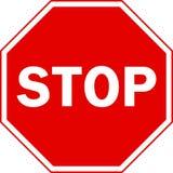 teckenstopp Fotografering för Bildbyråer