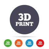 teckensymbol för tryck 3D symbol för printing 3d Arkivfoto