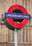 teckentunnelbana Fotografering för Bildbyråer
