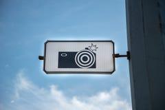 Teckenvägkamera Fotografering för Bildbyråer