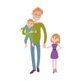 Teckenvektor för fader och för ungar tillsammans Arkivfoto