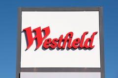 teckenwestfield Royaltyfri Foto