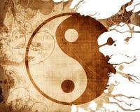 teckenyang yin Arkivbilder