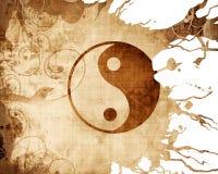 teckenyang yin Fotografering för Bildbyråer