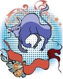 teckenzodiac stock illustrationer