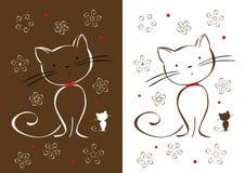 teckna för katter Vektor Illustrationer