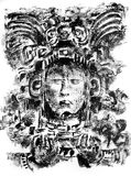teckna som är mayan Arkivbilder