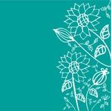 tecknad blom- hand Royaltyfria Foton
