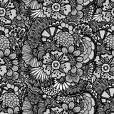 tecknad blom- handwallpaper Arkivfoton