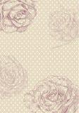 tecknad blommahand Arkivbild