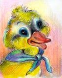 tecknad duckling Fotografering för Bildbyråer