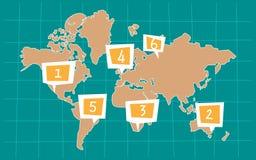 Tecknad filmöversikt av världen vektor illustrationer