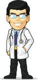 Tecknad film av doktorn vektor illustrationer