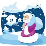 tecknad film beröm, gladlynt jul, barn, design, kamratskap för nytt år, gyckel, lycka vektor illustrationer