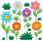 Tecknad film blommar samlingen Arkivbild