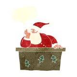 tecknad film borrade Santa Claus med anförandebubblan Royaltyfri Bild